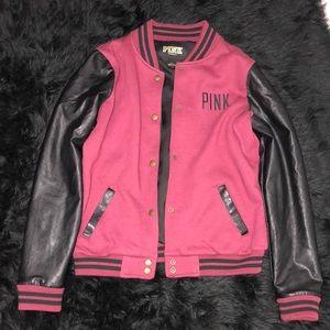 Pink V.S Leather Biker Jacket